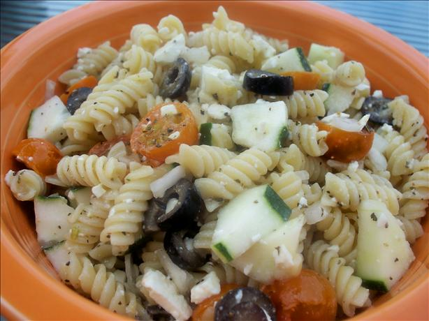 Lite Greek Pasta Salad