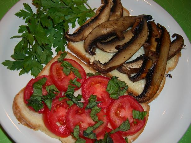Portabella Mushroom and Tomato Sandwich