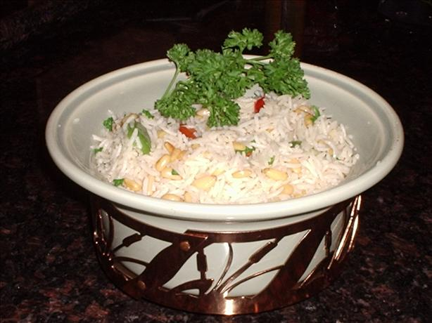 Garlic Rice with Pine Nuts