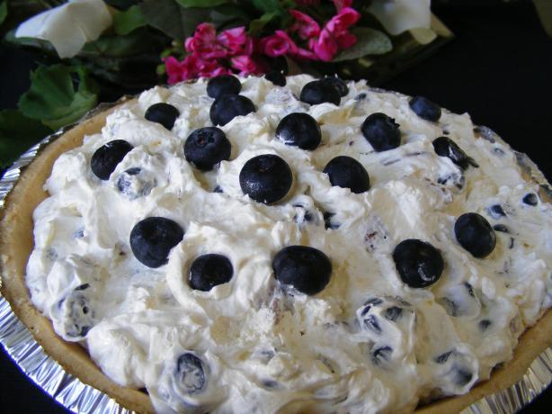 Marguerite's Creamy Blueberry Pie