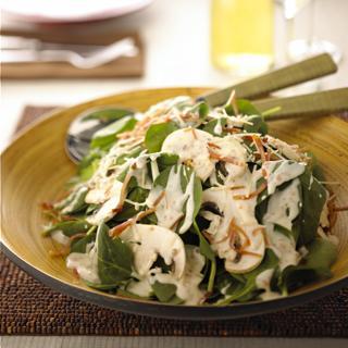 Spinach Salad With a Crème De Brie Dressing
