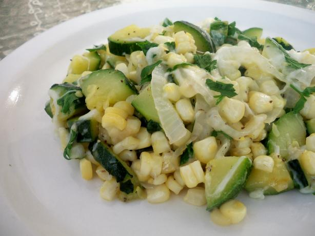 Delicious Summery Zucchini and Corn Skillet