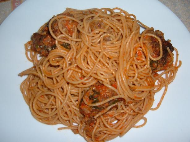 Bobby Flay's Spaghetti and Meat Balls With Tomato Sauce