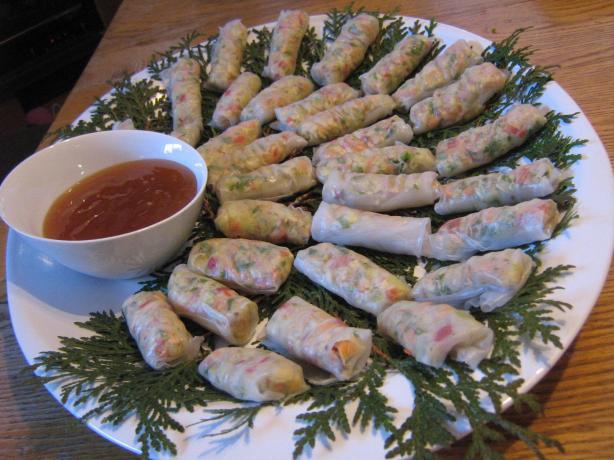 Crunchy Veggie Rice Paper Wraps