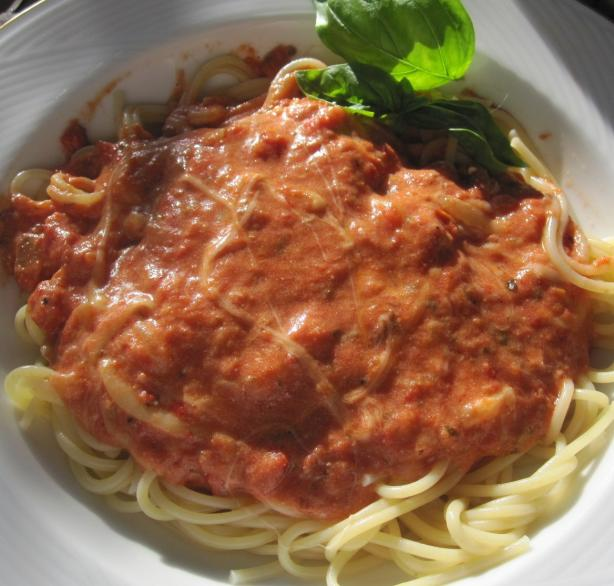 Quick and Easy Vodka Sauce