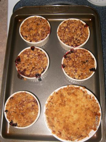 Individual Berry Crisp from Alton Brown