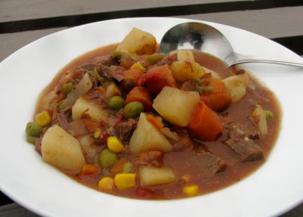 Quick Beef Vegetable Soup from Leftover Pot Roast