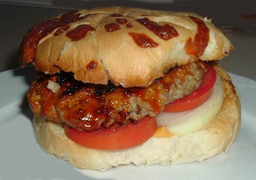 Barbecued Pork Burgers