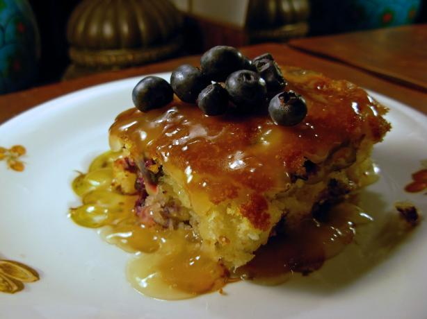 Lemon Blueberry Cake & Hot Honey-butter Sauce