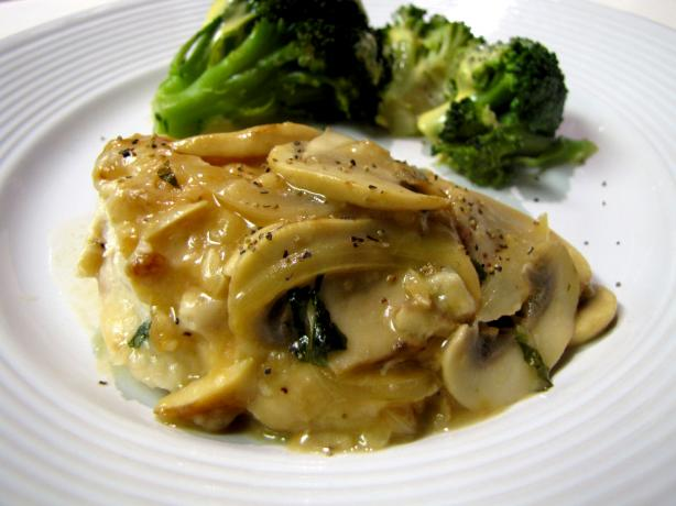 Ww Parmesan Chicken With Mushroom-Wine Sauce