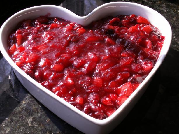 Light Cranberry Pear Sauce