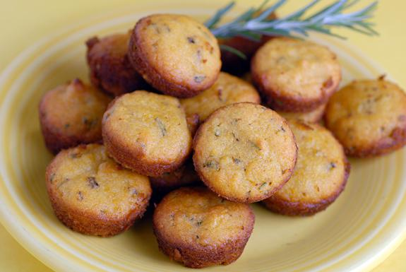Lemon Rosemary Mini-Muffins