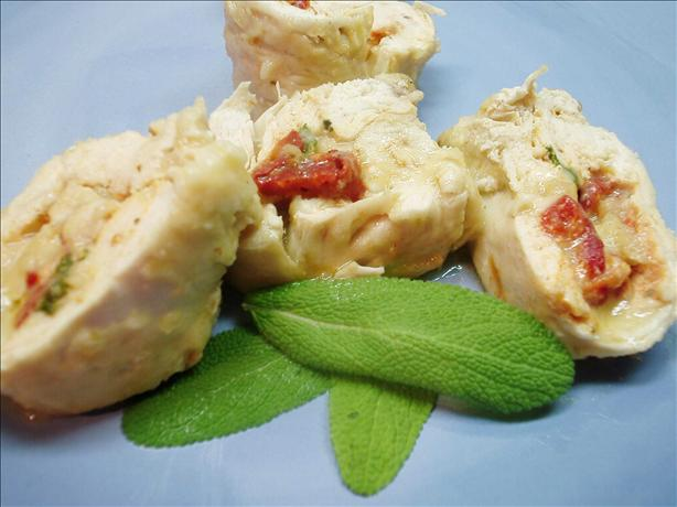 Fontina Cheese and Red Sweet Pepper Stuffed Chicken Breasts