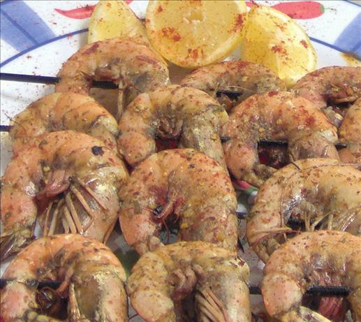Shrimp Kabobs, Moorish Style