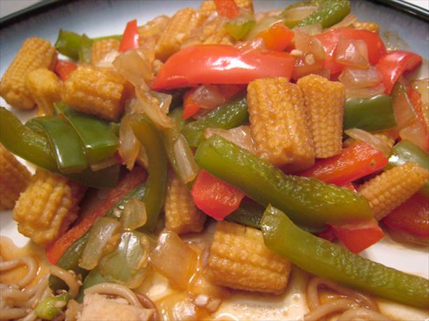 Chinese Baby Corn and Peppers