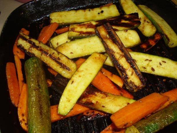 Grilled Zucchini Tunisian-Style (Vegan Friendly)