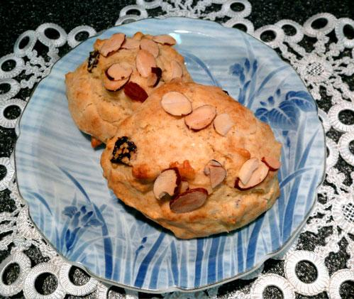 Dried Cherry and Almond Scones