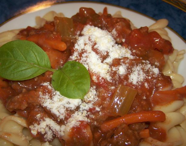 Italian Tomato Sausage Ragu With Penne