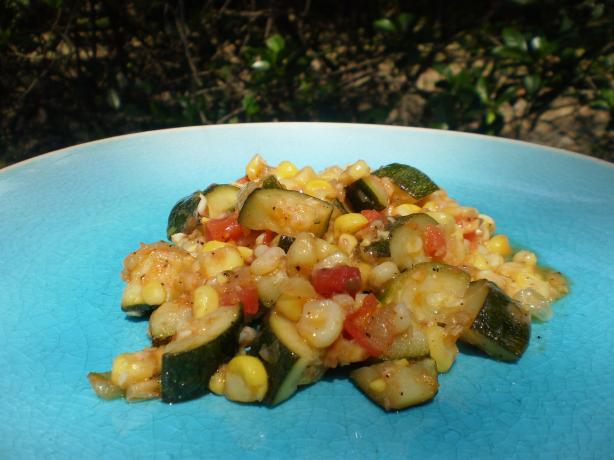 Corn and Zucchini Saute
