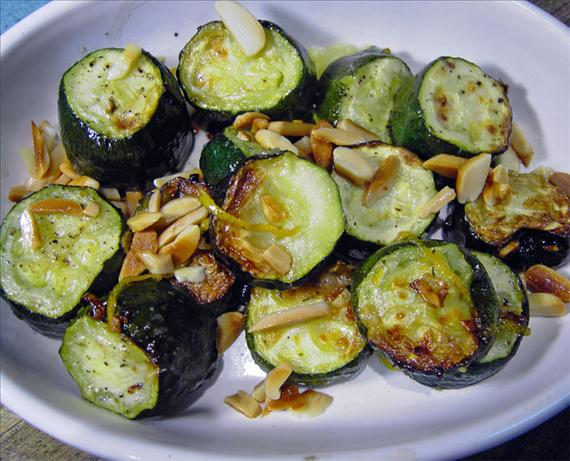 Roasted Lemon- Zest Zucchini With Pine Nuts