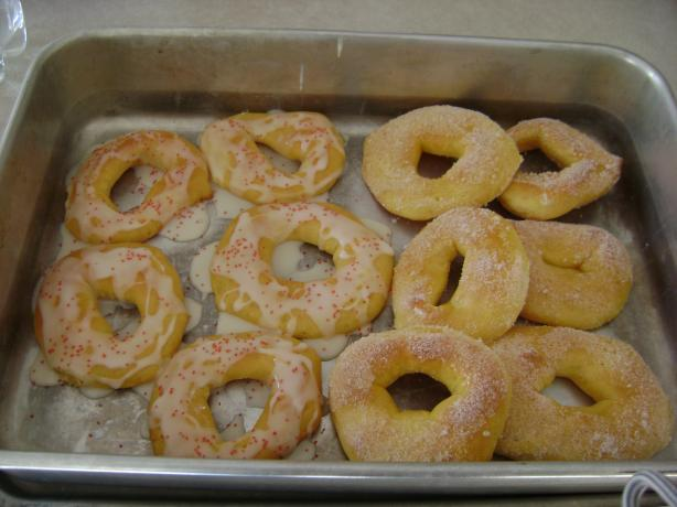Baked Sugar Doughnuts (Bread Machine)