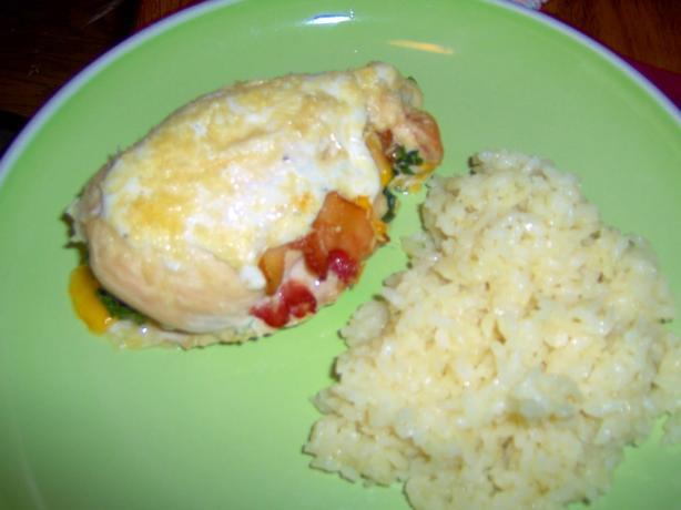 Spinach-stuffed chicken breast