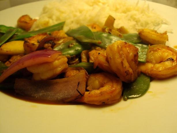 Shrimp and Snow Pea Stir Fry