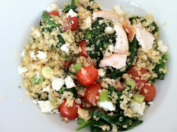 Quinoa With Spinach, Tomato and Chicken