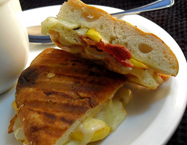 Brie and Apple Panini