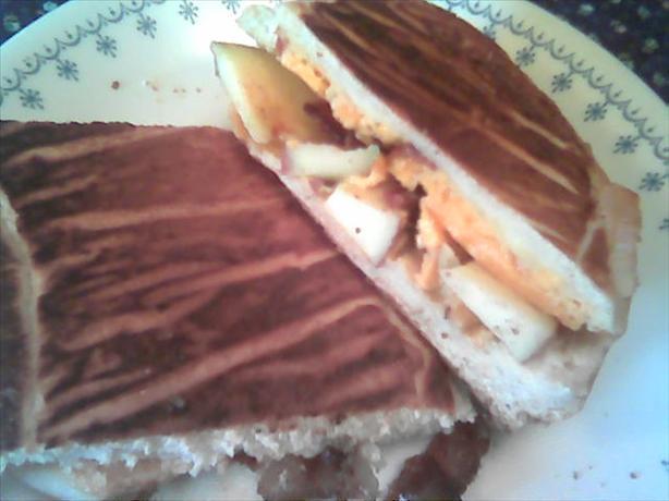 Cheddar Bacon and Apple Panini