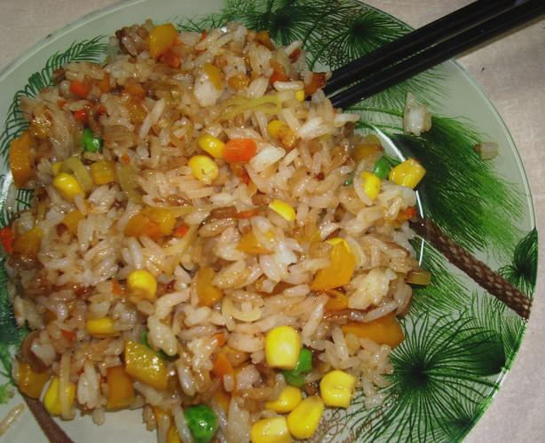 Fried White Rice With Vegetables