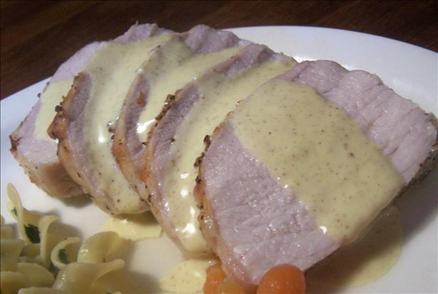 Pork With Horseradish-Mustard Sauce