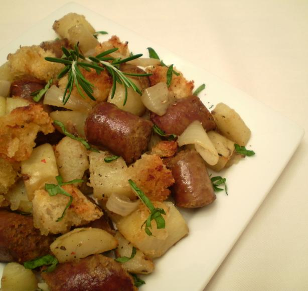 Sausages With Potatoes and Rosemary