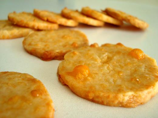 Cheddar-Cornmeal Icebox Crackers