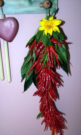 Red Hot Edible Pepper Wreath