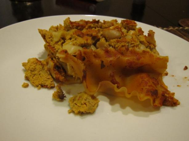Pumpkin and White Bean Lasagna