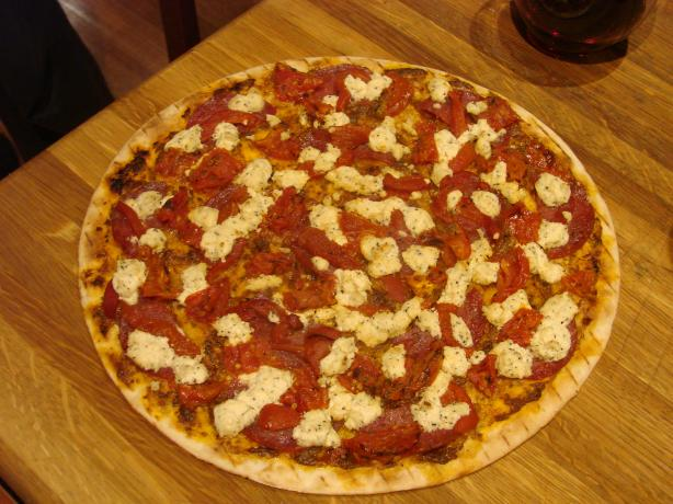 Boursin Cheese and Sun-Dried Tomato Pizza