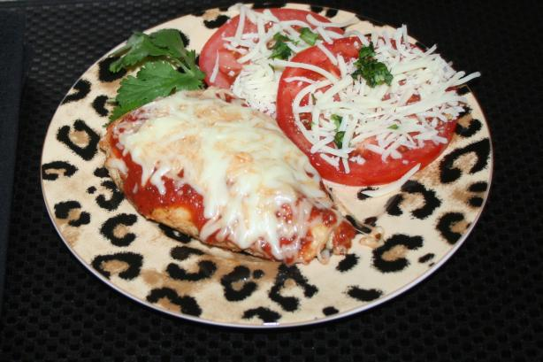 Healthy Grilled Chicken Parmesan