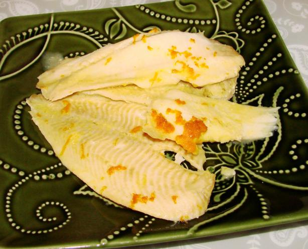 Baked Fish with Orange Sauce