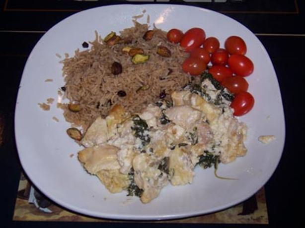 Layered Chicken and Artichoke Casserole