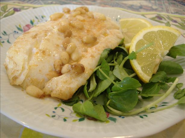 Cod Fish With Pine Nut Brown Butter