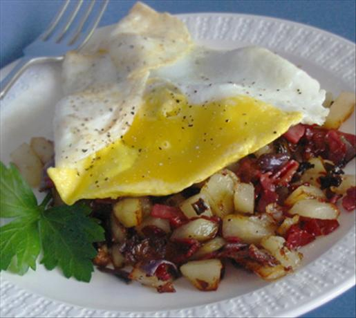Corned Beef Hash With Fried or Poached Egg