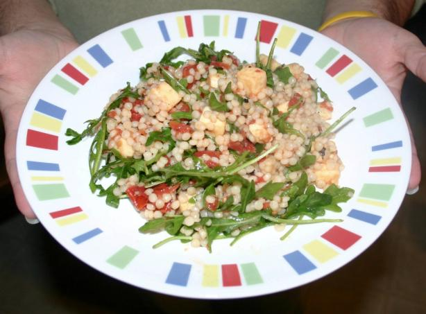 Israeli Couscous, Tomato and Mozzarella Salad