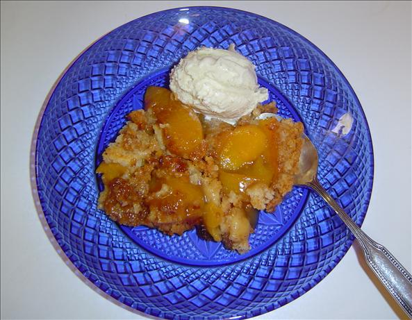 Crock Pot Peach Dump Dessert