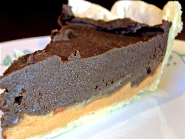 Dark, Rich, Creamy, Dense Chocolate Peanut Butter Pie!