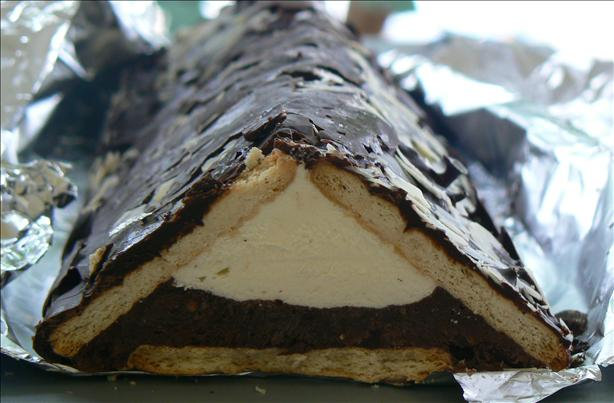 Pudding-Filled Biscuit Triangle