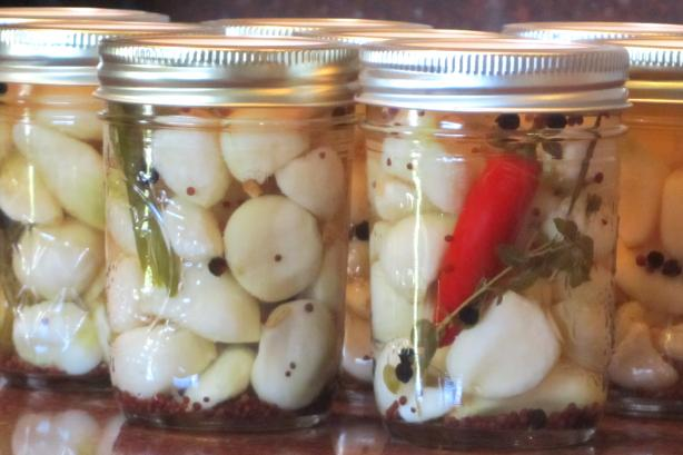 Pickled Garlic With Chili and Herbs