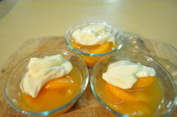 Sliced Peaches in Lime Rum Sauce (Diabetic)
