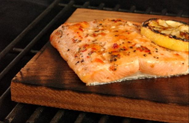 Cattle Boyz Cedar Plank Grilled Salmon
