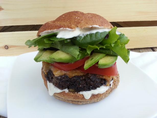 Chipotle Ranch Black Bean Burgers #RSC